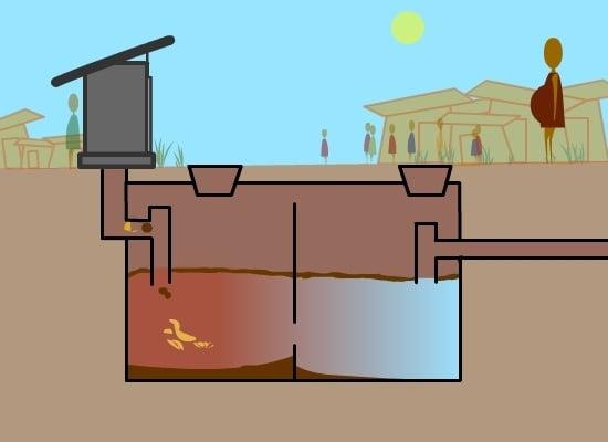 Healthabitat - how a septic tank works